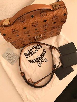 MCM Sac à main brun-doré