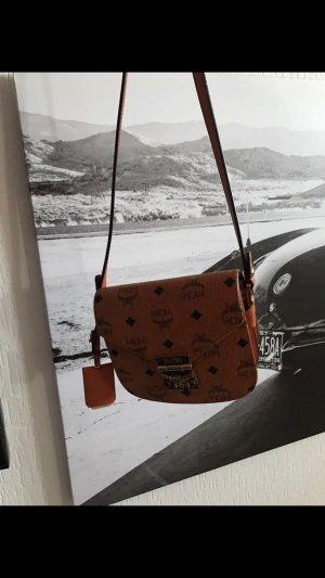 MCM Patricia visetos shoulder bag Mini Cognac