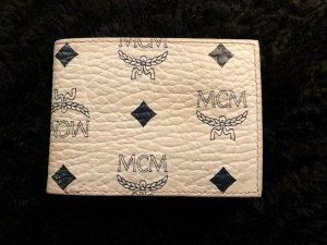 MCM Wallet white-dark blue