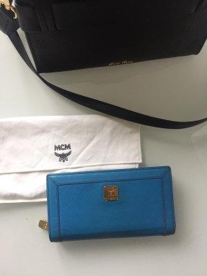 MCM Wallet neon blue-cornflower blue