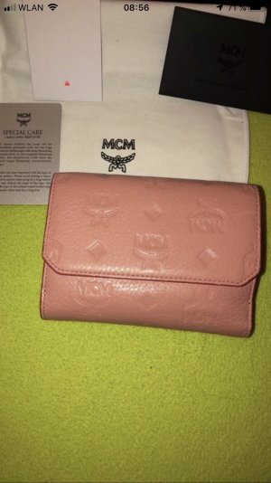 MCM Portemonnee stoffig roze
