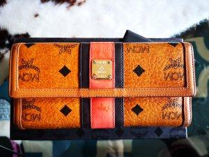 MCM Cartera marrón-naranja