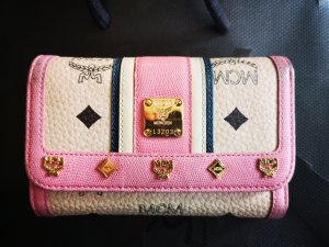 MCM Portafogli color oro rosa