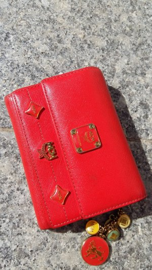 MCM Wallet bright red