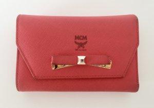 MCM Portemonnaie, pink/lachsfarben, Sonderedition MINA