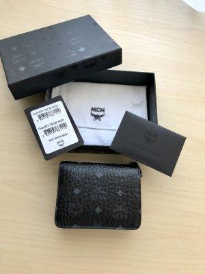 MCM Portefeuille noir-bleu cuir