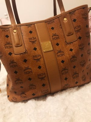 MCM Project Visetos Liz Medium Shopper Cognac