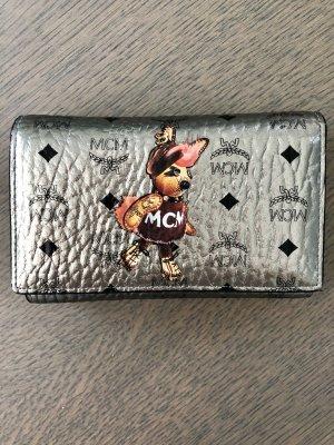 MCM Rabbit Portemonnaie Silber Medium