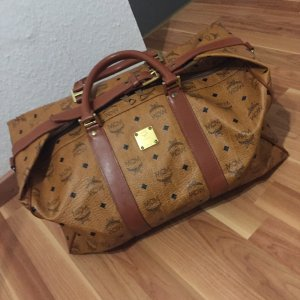 MCM Travel Bag cognac-coloured-black leather