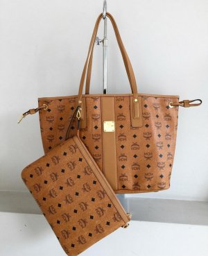 MCM Reversible Tote Shoppingbag Shopper Handtasche braun