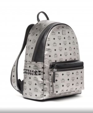 MCM Backpack silver-colored-black