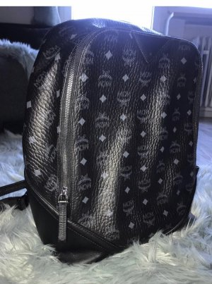 MCM Laptop Backpack black leather