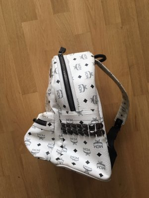 MCM Backpack white-black leather