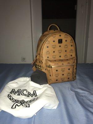 MCM Mini sac crème-doré cuir