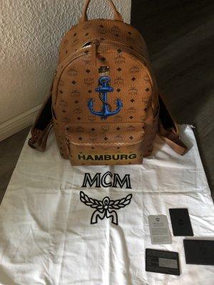 MCM Rucksack Bagpack Einzelstück limitiert 100% Original Medium Cognac