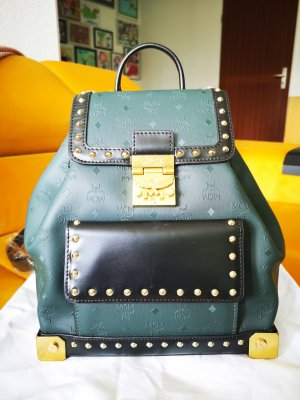 MCM Handbag sand brown-green grey