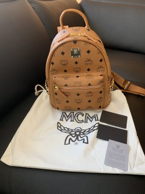 MCM Backpack light brown-gold-colored