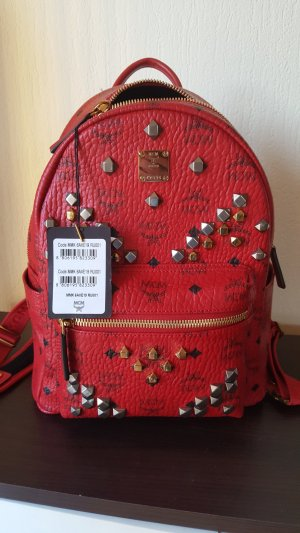 MCM Rucksack in coolem Rot