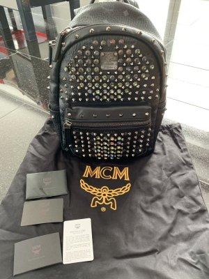 MCM Sac à dos pour ordinateur portable noir-argenté
