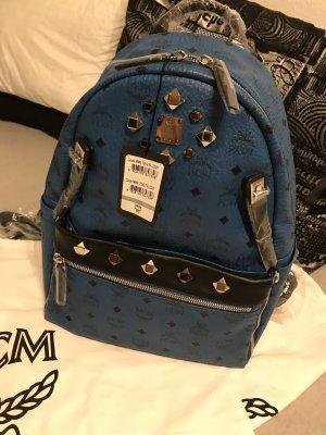 MCM School Backpack black-blue