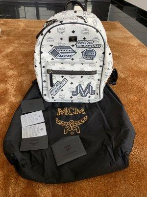 MCM Sac à dos pour ordinateur portable blanc-noir