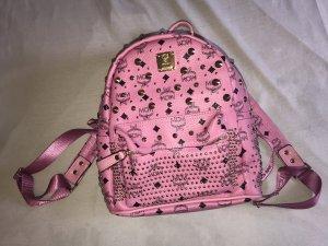 MCM Rucksack Pink Hot Pink Backpack Gold Leder 1:1