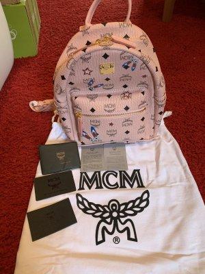 MCM Sac à dos pour ordinateur portable rose-bleu