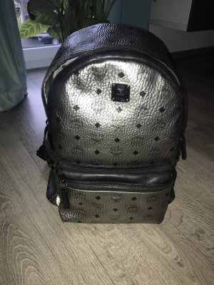 MCM Backpack silver-colored