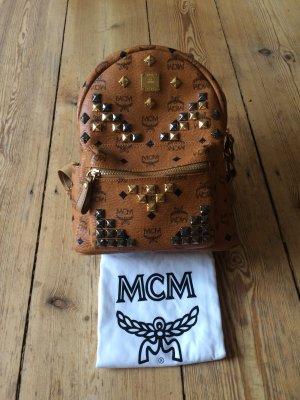 MCM Rucksack Stark Mini Cognac
