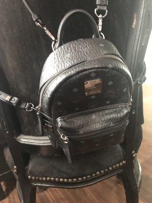 MCM Mini sac noir-gris anthracite