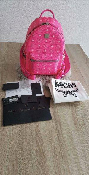 MCM Rücksack Small Neon Pink Neu