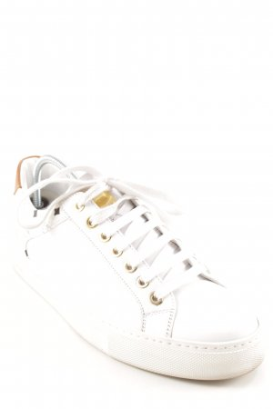 MCM Lace-Up Sneaker natural white-cognac-coloured check pattern