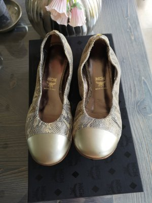 MCM Foldable Ballet Flats silver-colored-cream