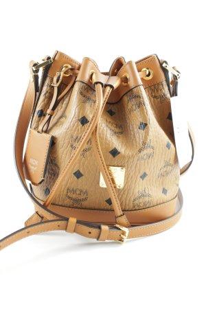 "MCM Schultertasche ""Mini Heritage Drawstring Bucket Bag Cognac"""