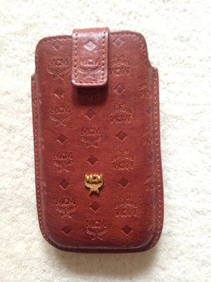 MCM Mobile Phone Case cognac-coloured