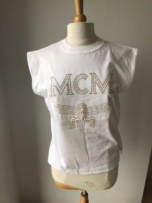MCM Shirt Tshirt Luxus Strass Steine Gr 36-38