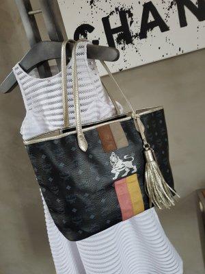 MCM Borsa shopper nero-argento