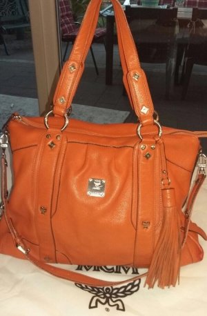 MCM Shopper russet-dark orange