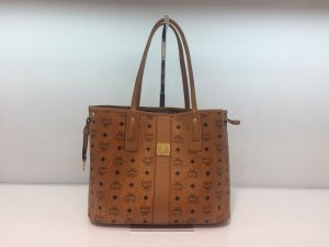 MCM Shopper light brown-black imitation leather