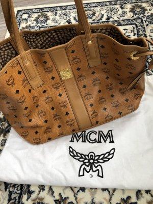 MCM Shopper marron clair-doré