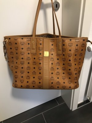 MCM Shopper light brown-cognac-coloured