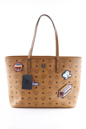 "MCM Shopper ""Anya Victory Patch Visetos Shopper Medium Cognac"""