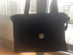 MCM Shopper black synthetic material
