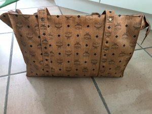 MCM Shopper cognac-coloured-black