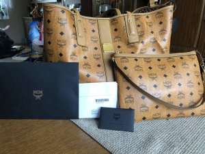 MCM Shopper marron clair