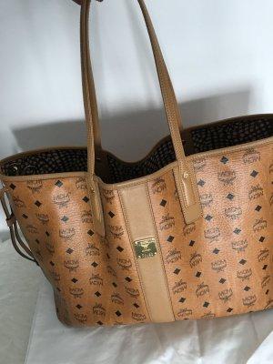 MCM Shopper cognac Tasche