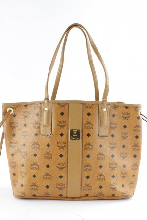 "MCM Shopper ""Gold Visetos Hobo Small Cognac"""