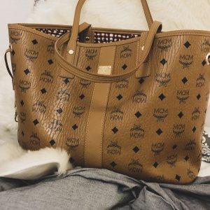 MCM Shopper Handtasche Medium braun