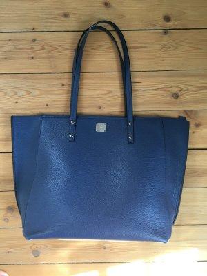 MCM Shopper bleu-bleu foncé