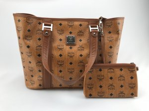 MCM Shopper cognac-coloured